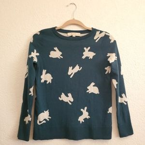 Loft Bunny Cat print sweater